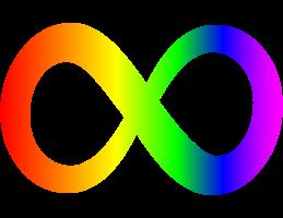 image of rainbow infinity symbol