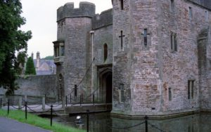 Picture of moat in front of Bishop's Palace, Wells